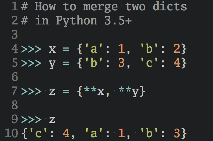 Python Tricks Dictionary Merge