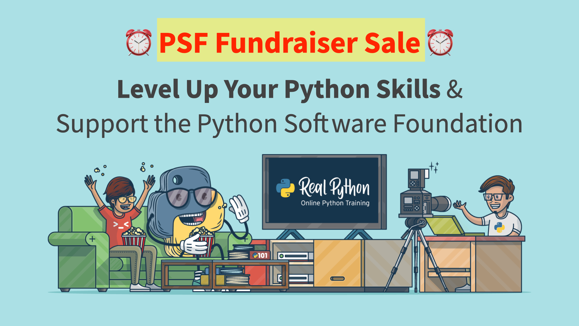 Real Python + PSF Fundraiser Sale