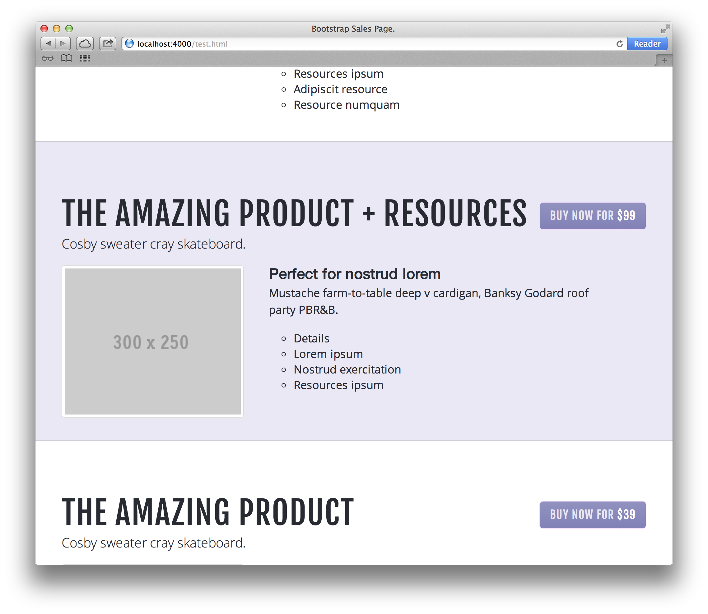 Bootstrap Sales Page Example 4