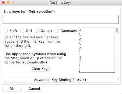 idle settings new keys popup window