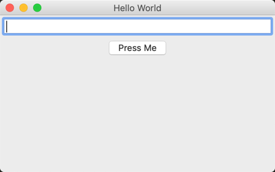 Hello World in wxPython with Sizers