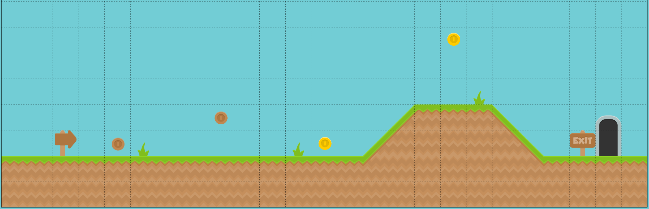 Basic design for level one of the arcade platformer
