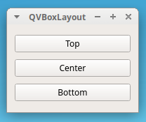PyQt QVBoxLayout example