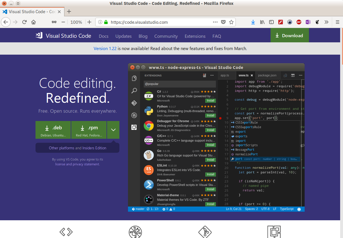 Visual Studio Code Web Site