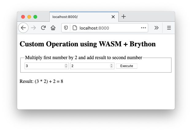 WASM Brython